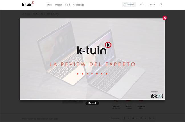Captura de la web de K-tuin, cliente de edición de vídeo en Zaragoza de El Fabricante de Nubes
